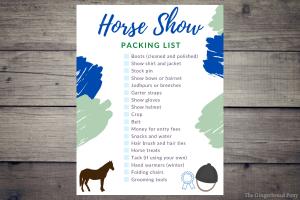 Horse Show Packing List Checklist HERO