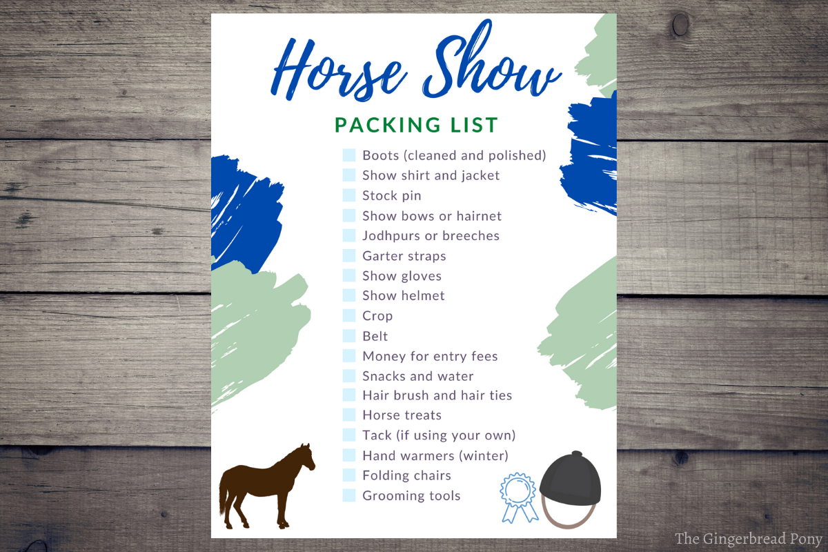 Horse Show Packing List Checklist HERO