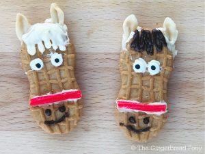 Nutter Butter Horse Cookies Close