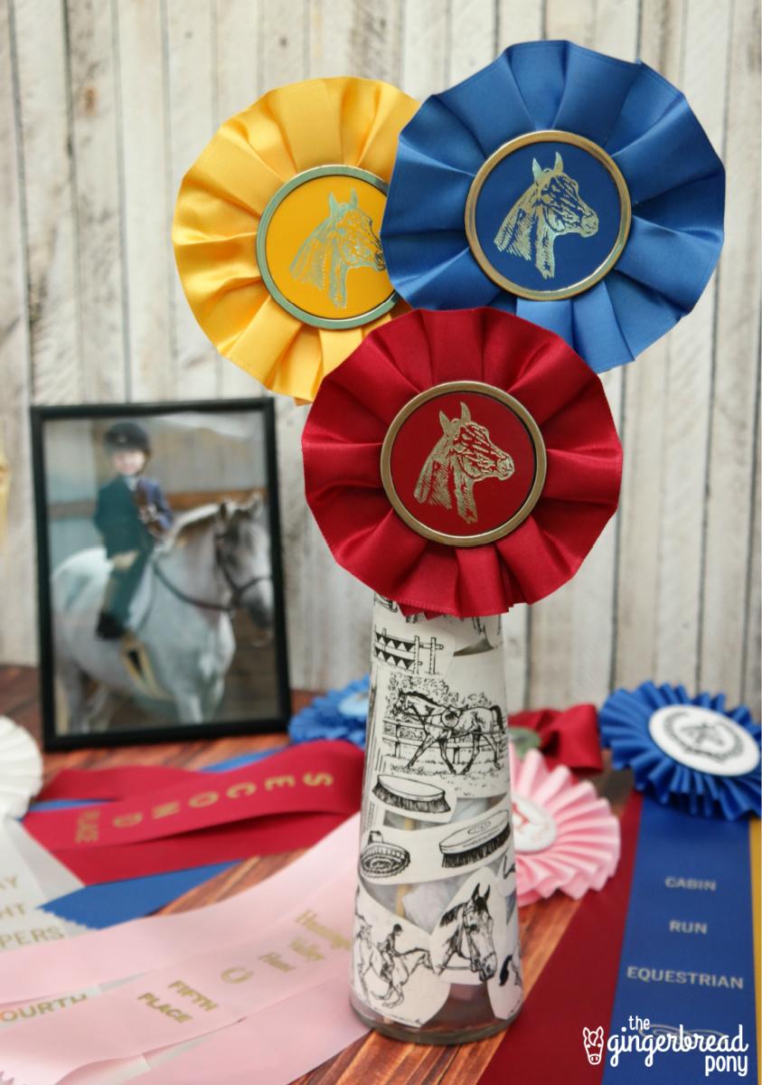 Horse Show Ribbon Vase