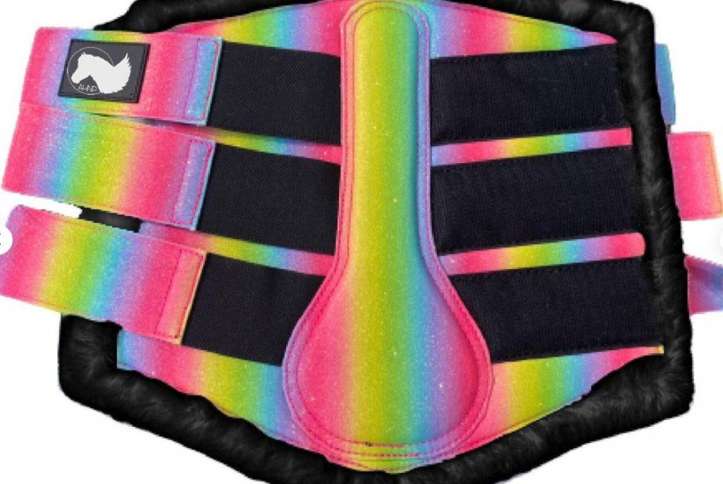 rainbow horse boots