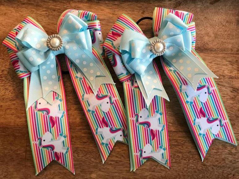 unicorn horse show bows