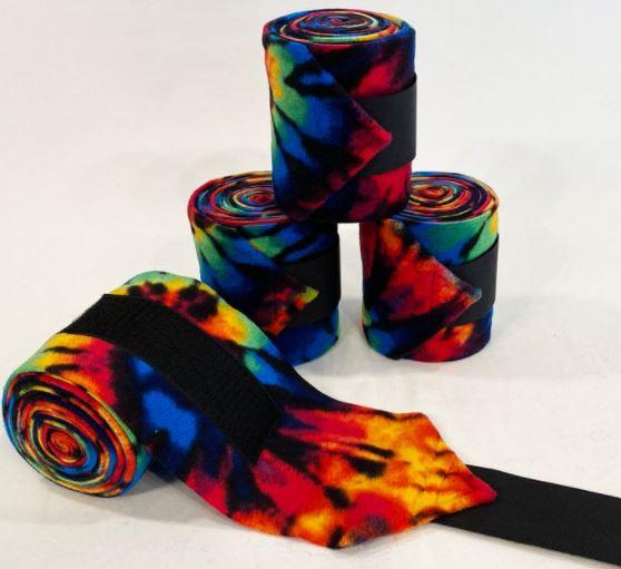 Rainbow Tie Dye Polo Wraps