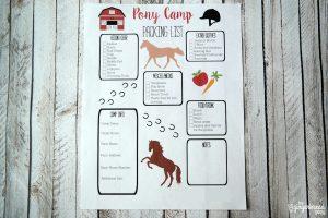 Horse Camp Supply List