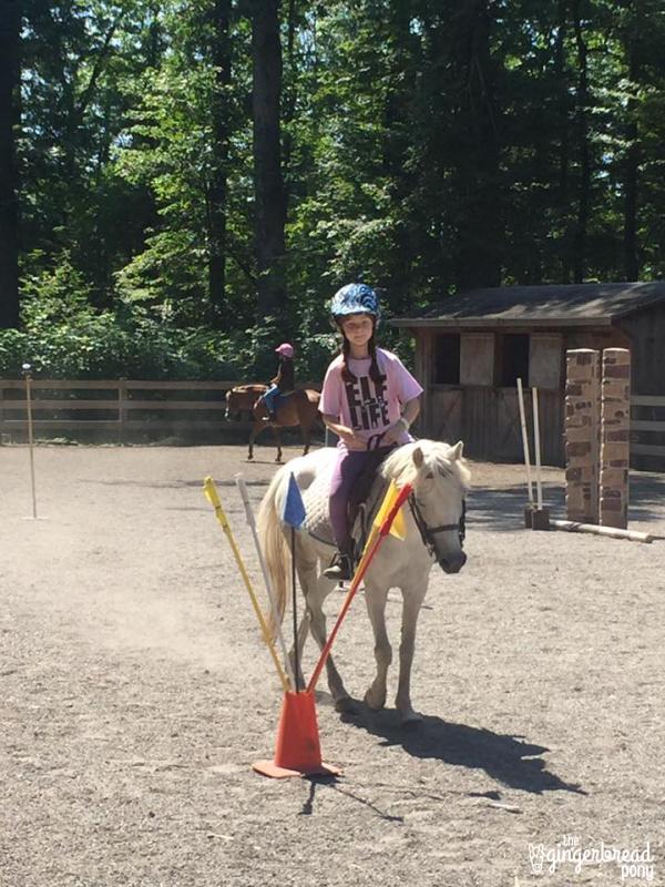 Flag relay horseback